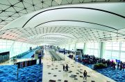 Hong Kong International Airport's five-storey Midfield Concourse op...