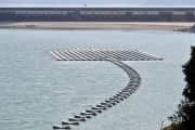 Floating photovoltaic system by Water Supplies Department at Plover...
