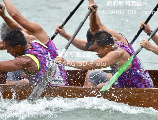 Hong Kong, the birthplace of modern dragon boat racing, celebrates Tuen Ng, or Dragon Boat Festival, with great enthusiasm, with races held in various places around the territory.  These pictures show the rousing races held in Tai O, Tai Po, Sai Kung, Stanley and Tuen Mun on June 18.